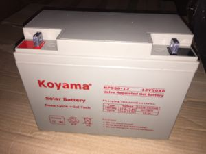 Cheap Price 12V 50ah Deep Cycle Gel Battery for Wind Power System pictures & photos