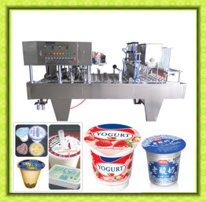 Milk Juice Yogurt Jelly Cup Filling and Sealing Machine pictures & photos