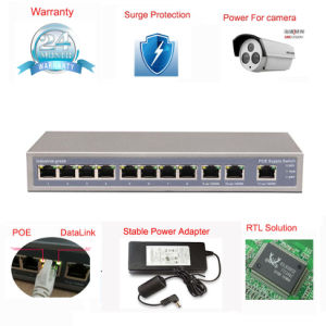 8 Port Poe Switch 8*100m Poe+3*1000m Uplink Surge Protection Support Hik Camera pictures & photos