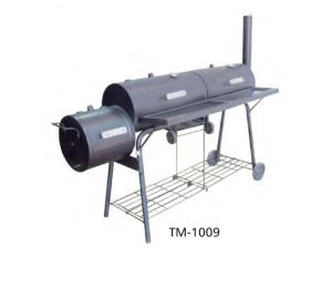 Large Chimney BBQ Smoker Grill with Wheels pictures & photos