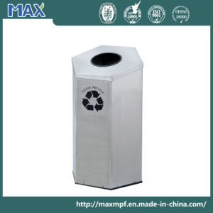 Outdoor Hexagon Colorful Stainless Steel Garbage Recycle Waste Bin pictures & photos