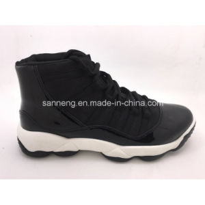 Men Sports Shoes with PVC Injected Outsole (SNC-52020) pictures & photos