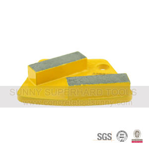 Diamond Trapezoid Grinding Plates Pad Shoe for Concrete Terrazzo pictures & photos