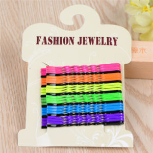 Girls Fashion Jewelry 5.5cm Card Packed Colorful Spiral Hairpins (JE1018-3) pictures & photos