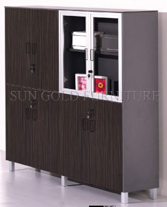 Divider Cabinet Furniture Wood Swing Door Cheap Bookcase (SZ-FCT604) pictures & photos