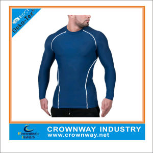 4 Way Stretch Mens Compression Long Sleeve Shirt for Running pictures & photos