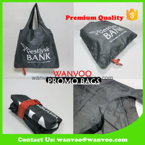 Recycled Eco-Friendly Foldable Nylon Pouch Promotional Leisure Bag pictures & photos