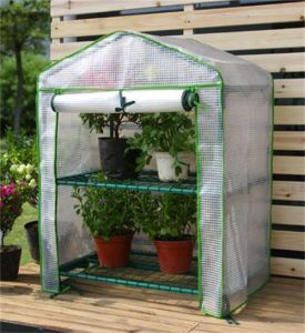 2 Tier Mini Greenhouse with PE Cover