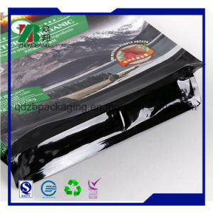 Stand up Foil Resealable Flat Bottom Rice Packaging Bag pictures & photos
