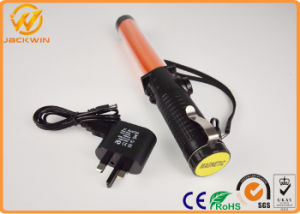 Roadside Saftety Control Flash-Steady-Lighting-Close Rechargeable Police Traffic Baton pictures & photos