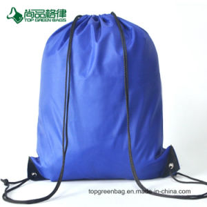 with Front Pocket and Earphone Hole Drawstring Backpack Pack pictures & photos