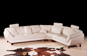 Modern Home Furniture Sofa Set with Italian Leather pictures & photos