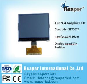FSTN Positive 128*64 Cog Graphic LCD Display FPC Spi 36pin Interface pictures & photos