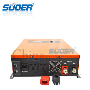 Suoer 12V 220V 1kw Solar Hybrid UPS DC AC Inverter (SON-MPPT-1400A) pictures & photos