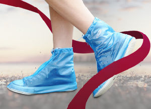 Reuseable Waterproof PVC Rain Shoe Cover pictures & photos