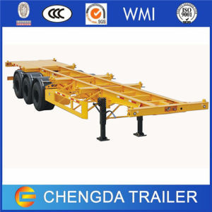 Flatbed and Skeleton Type Container Semi Trailer for Sale pictures & photos