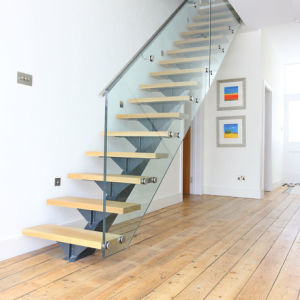 Prefabricated Wrought Iron Used Metal Straight Stairs for Indoor pictures & photos