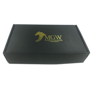 Flap Top Black Printed Box Custom Box pictures & photos