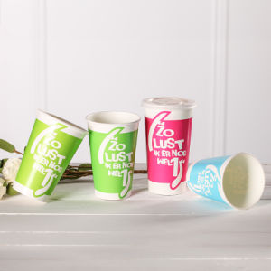 12oz/16oz Disposable Cold Drinking Paper Cup pictures & photos
