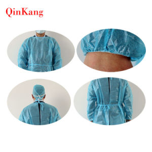 Sterile Disposable Non-Woven Reinforced Surgical Gown pictures & photos