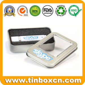 Small Metal Gift Window Tin for USB Disk Packaging Box pictures & photos