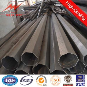 10m 5kn Transmission Galvanized Steel Distribution Pipe Pole pictures & photos