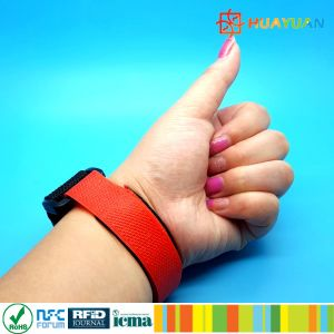 Access Control Adjustable Costly Magic Tape RFID Wristband Tag pictures & photos
