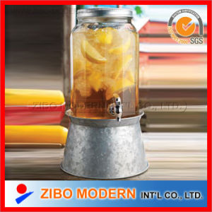 2015 New Glass Drink Dispenser with Base and Ice Container pictures & photos