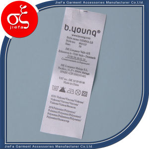 Double-Side Satin Printing Wash Label /Care Label for Sale pictures & photos