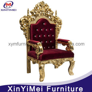 Gold Wedding Royal Throne King Chair (XYM-H91) pictures & photos