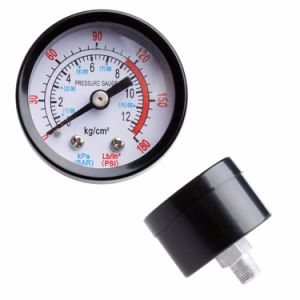Air Compressor Pneumatic Hydraulic Fluid Pressure Gauge 0-12bar 0-180psi New pictures & photos