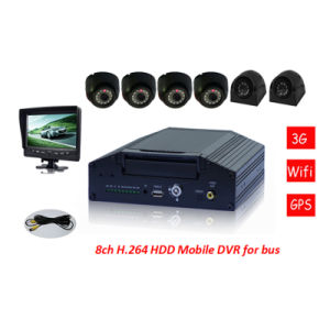 Popular New 8CH Car Camera Mobile DVR with Eight Picure View pictures & photos