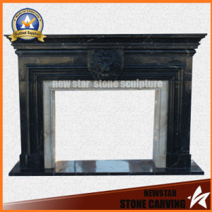 Black Marble Fireplace Surround Granite Mantel pictures & photos