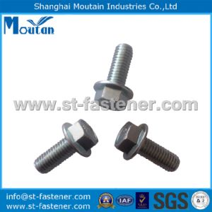 Carbon Steel Zinc Plated DIN6921-8.8 Zinc Plated Hex Flange Bolt