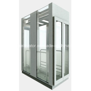 Square Type Sightseeing Elevators with Full Glass Cabin Wall pictures & photos