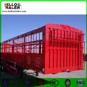 3 Axle Fenced Box Semi Trailer 50t Cargo Truck Trailer pictures & photos