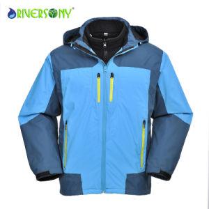 Men′s 3 in 1 Waterproof Outdoor Jacket with Waterproof Zipper pictures & photos