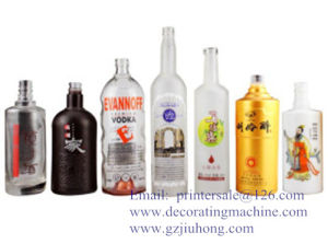 Glass Bottle Screen Printer with LED UV pictures & photos