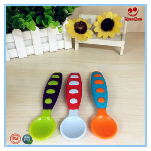 Skidproof Plastic Spoon for Baby BPA Free pictures & photos