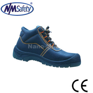 Nmsafety Middle Cut Leather Work Protection Shoes pictures & photos