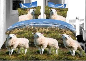 Printed Cotton 3D Bedding Set pictures & photos