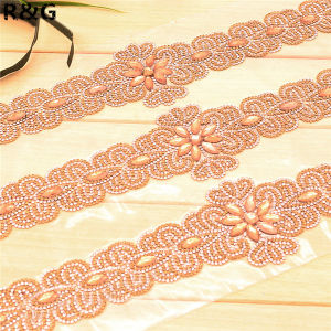 Fashion Hot Fix Flower Beaded Appliques Rhinestone pictures & photos