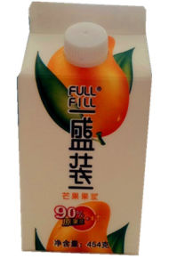 454G Mango Puree Gable Top Carton with Cap pictures & photos