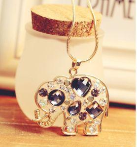 2013 Crystal Rhinestone Elephant Necklace -Fashion Jewelry (MOS-NA01121)
