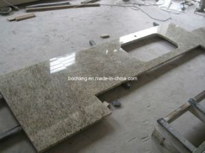 Giallo Ornamental Granite Kitchen Countertop pictures & photos