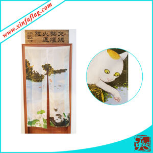 Polyester Fabric Door Curtain with Good Workmanship pictures & photos