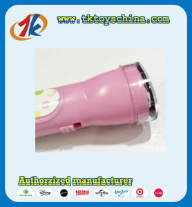 Promotional Projector Lamp Plastic Torch Lamp Toy with Free Caps for Kids pictures & photos