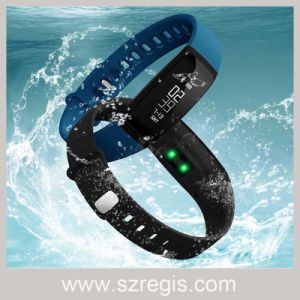 Touch Screen Waterproof Silicone Heart Rate Smart Bluetooth Bracelet pictures & photos