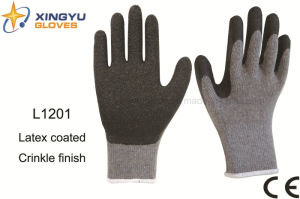10g T/C Shell Latex Crinkle Safety Work Glove (L1201) pictures & photos