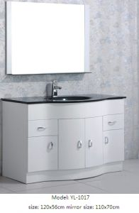 Bathroom Vanity with Glass Wash Basin Mirror